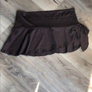 Brown swim skirt coverup